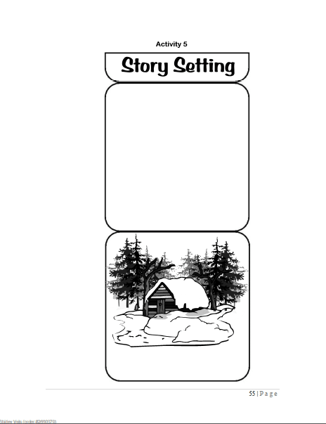 Little House lapbook templates