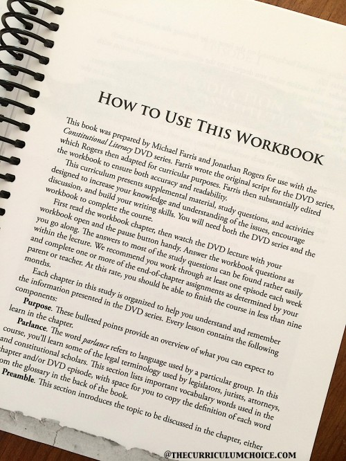 Constitutional Literacy How to Use this Workbook