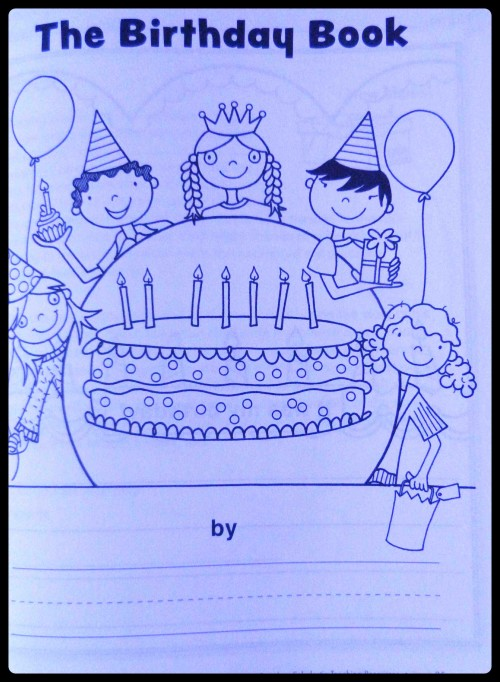 birthday book page for betsy's review