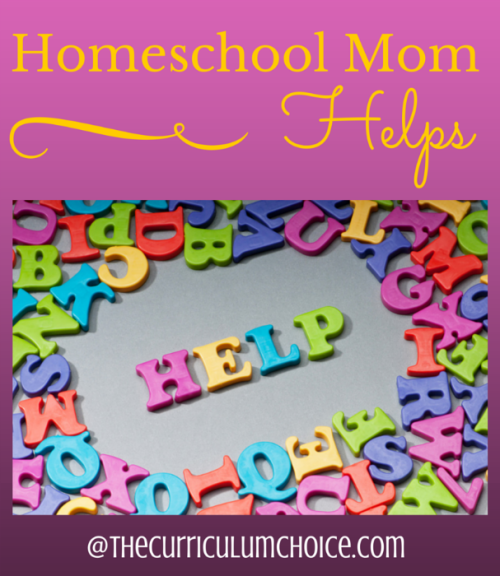 Homeschool Mom Helps - The Curriculum Choice