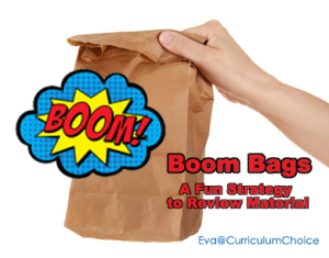 Boom Bags – A Fun Strategy to Review Material