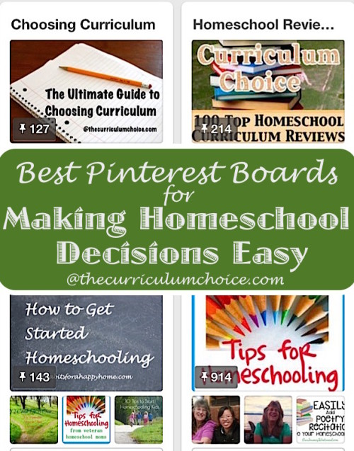 Best Pinterest Boards for Making Homeschool Decisions Easy!
