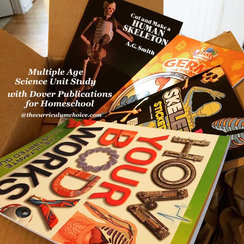 Multiple Age Science Unit Study with Dover Publications for Homeschool