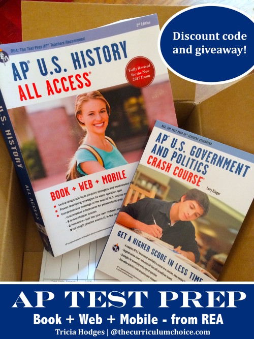 AP Test Prep from REA - Review + Giveaway at The Curriculum Choice