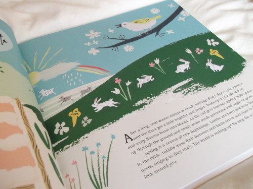 I have the cutest book to review for you today, another great addition to your bookshelf. Natures Day is written by Kay Maguire and illustrated by Danielle Kroll. The quality of this book is wonderful.