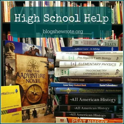 High School Help from Blog, She Wrote