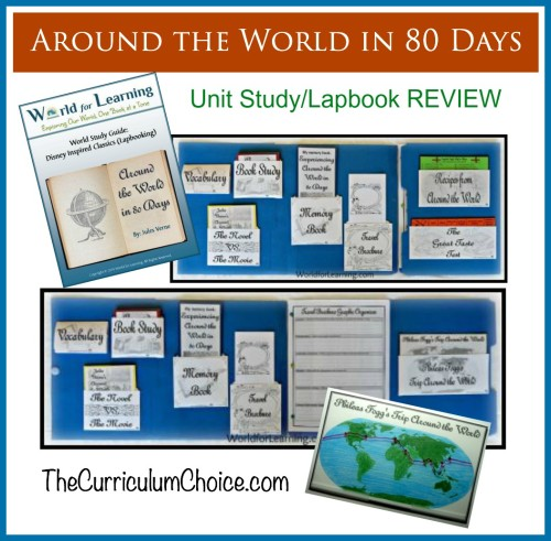 Around the World in 80 Days Unit Study REVIEW at The Curriculum Choice