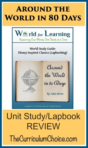 Around the World in 80 Days – Unit Study/Lapbook REVIEW