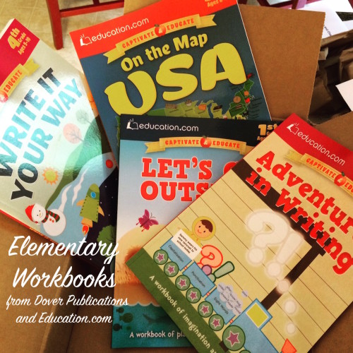 Dover Publications and Education.com Workbooks for Elementary Homeschool Students
