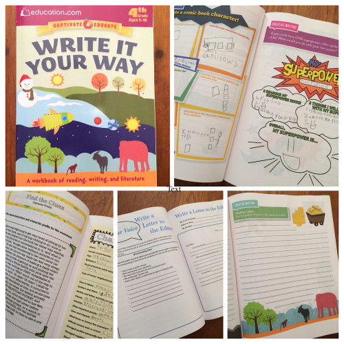Write it Your Way workbook from Dover Publications and Education.com