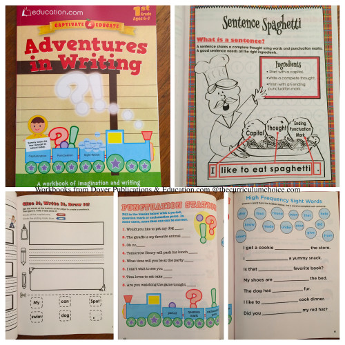 Adventures in Writing from Dover Publications and Education.com