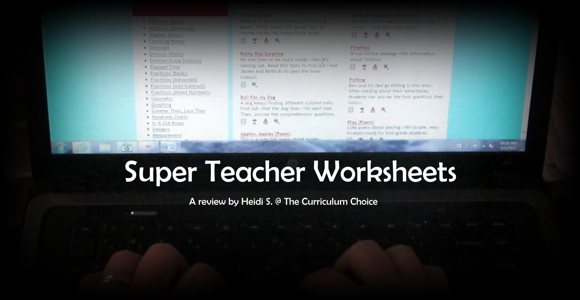 Super Teacher Worksheets A Review The Curriculum Choice