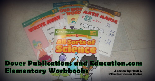 Dover Publications and Education.com Elementary Workbooks for Homeschool