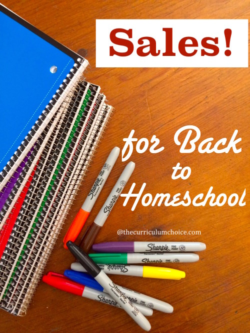 Back to Homeschool Sales for You!