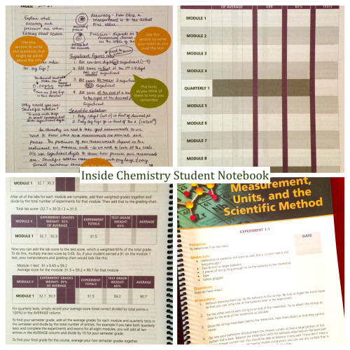 Inside Chemistry Student Notebook