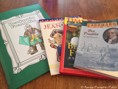 Benjamin Franklin Lap-Pak by Homeschool in the Woods - Review at The Curriculum Choice