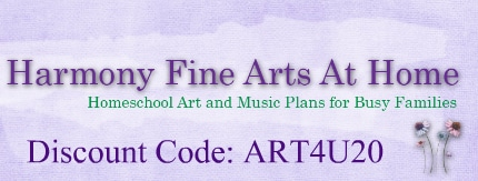 Harmony Fine Arts Curriculum Choice Discount Banner