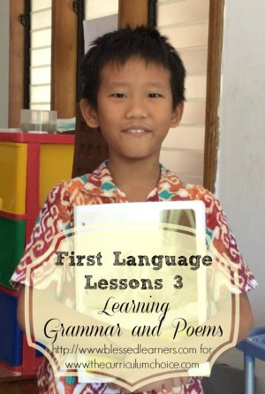 First Language Lessons 3: Learning Grammar and Poems