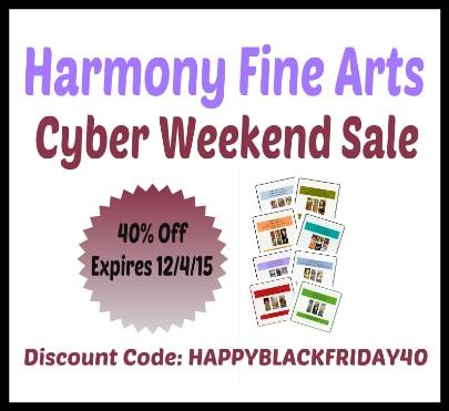 Harmony Fine Arts Cyber Weekend Sale @harmonyfinearts
