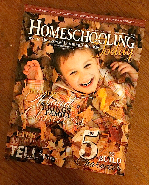 Homeschooling Today Magazine Subscription Giveaway at The Curriculum Choice
