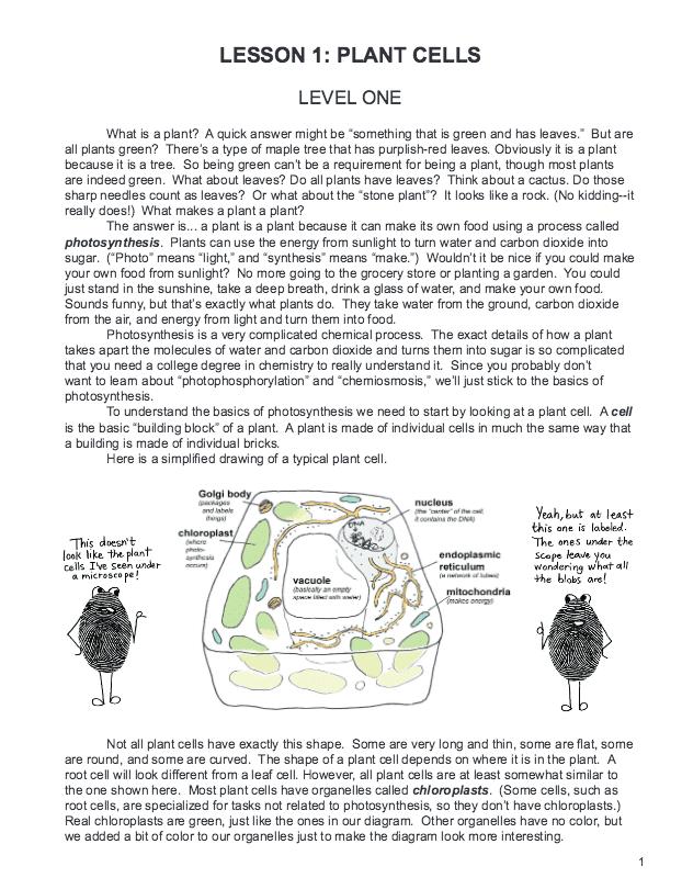 Botany in 8 Lessons - Sample Lesson 1
