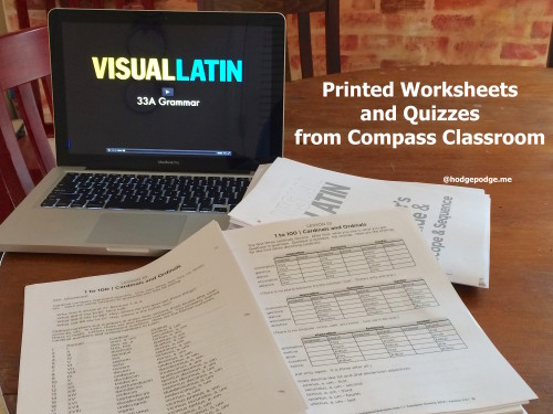 Visual Latin Printed Worksheets and Quizzes from Compass Classroom