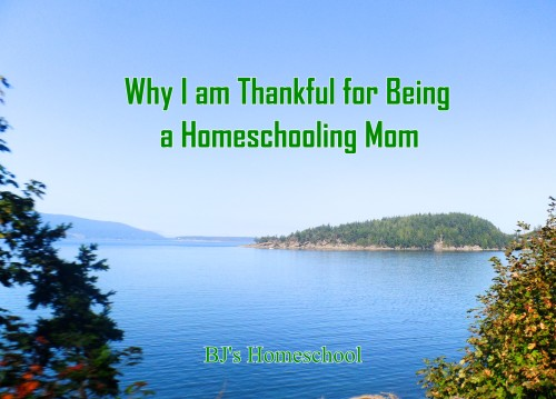 Why I am thankful for being a homeschooling mom