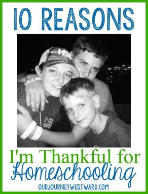 Even on the rough days, there are always reasons to be thankful for homeschooling.