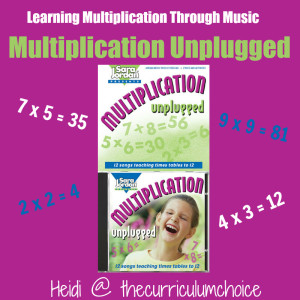 Learning Multiplication Through Music - A Multiplication Unplugged Review from The Curriculum Choice
