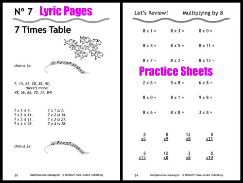 Multiplication Unplugged Sample Sheets