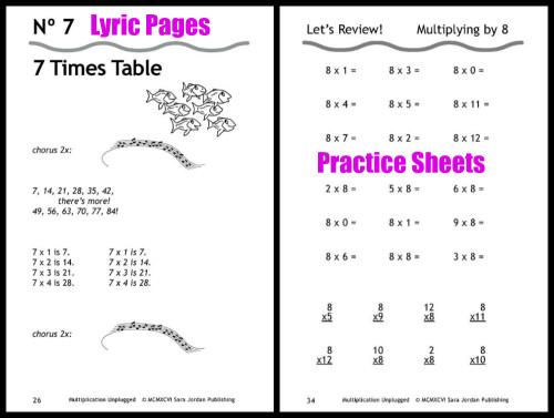 Multiplication Unplugged Sample Sheets