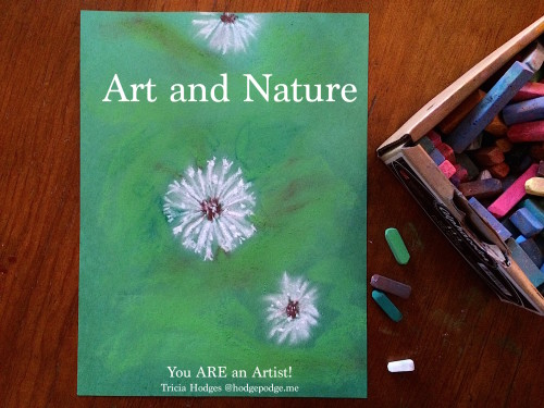 Art and Nature - Dandelion chalk art