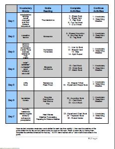EW Schedule