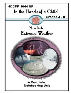 In The Hands Of A Child: Extreme Weather makes it easy for the homeschool teacher to jump straight in without too much prep work.