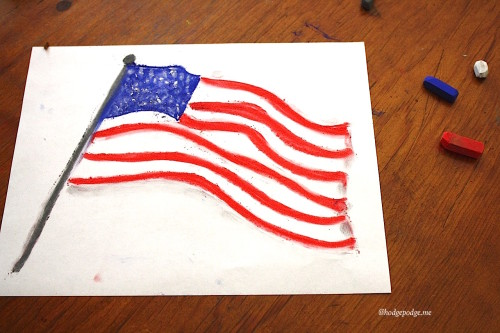 American flag step
