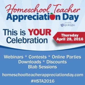 Homeschool Teacher Appreciation Day April 28, 2016