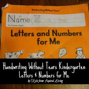 Review of Handwriting Without Tears K: Letters and Numbers For Me
