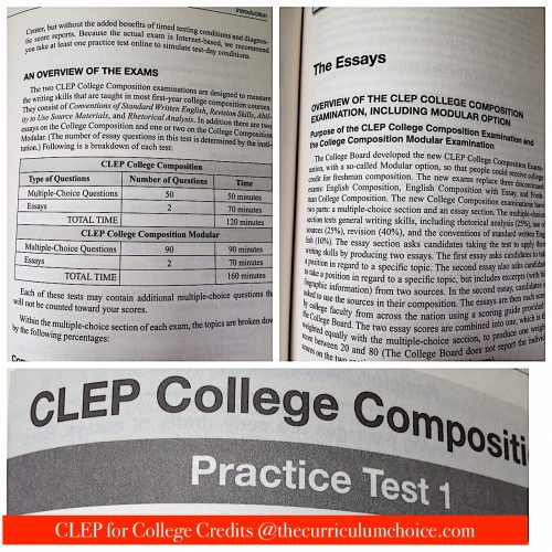 CLEP College Composition details