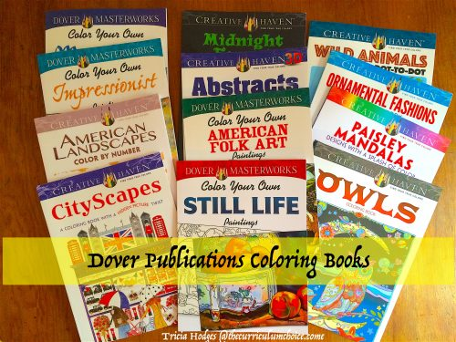 Dover Coloring books series - MasterWorks and Creative Haven