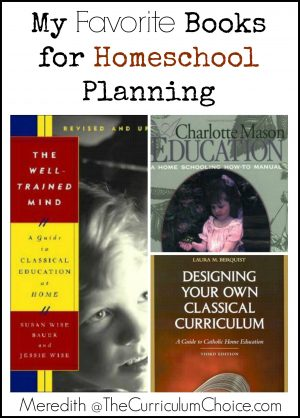 Favorite Homeschool Planning Books