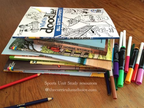 Sports Coloring books for summer fun and unit study learning