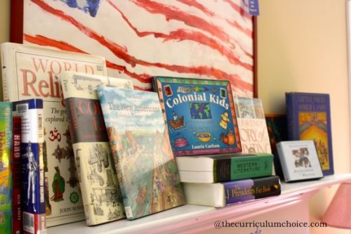 Books-for-Tapestry-of-Grace-on-the-mantel-580x386