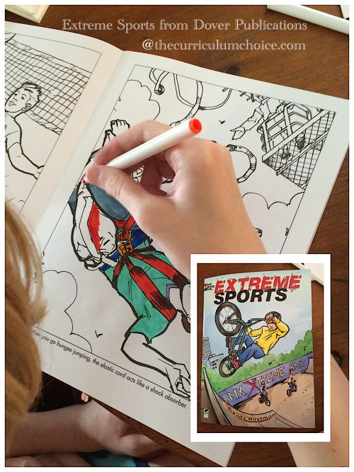 Extreme Sports Coloring Book from Dover Publications
