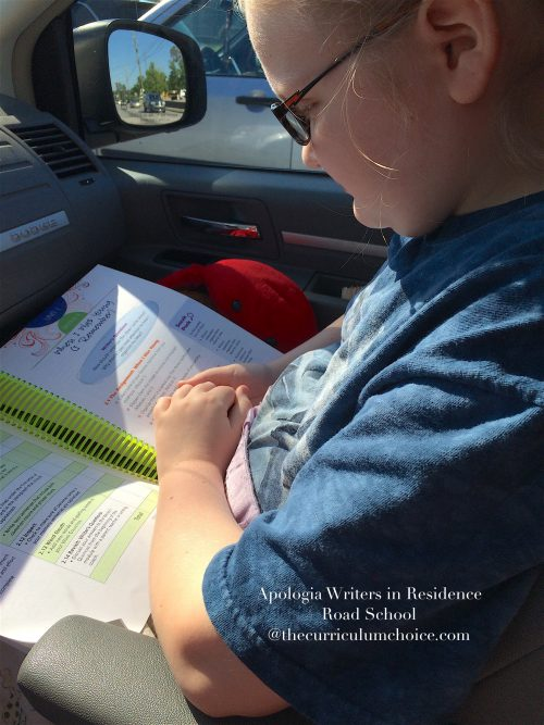 Writers in Residence on the Go homeschool
