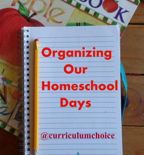 The favorite ways we organize our homeschool days from the authors at The Curriculum Choice - a variety of resources and encouragement for you!