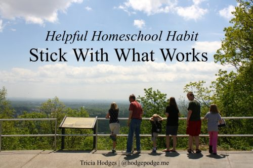 Helpful #Homeschool Habit - Stick With What Works www.hodgepodge.me