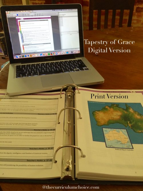 Tapestry of Grace Digital and Print Versions