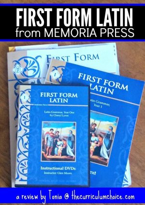 First Form Latin from Memoria Press