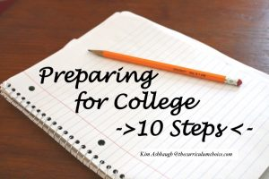 10 Steps – Preparing for College