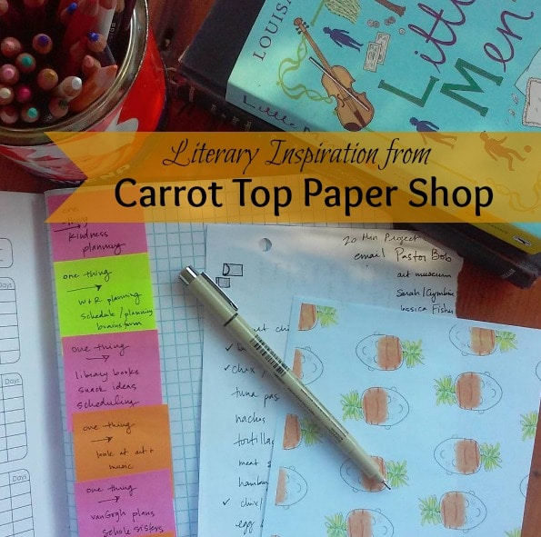 Carrot Top Paper Shop products are the perfect way to connect with your teen daughter, a faraway friend, or your own inner heroine!